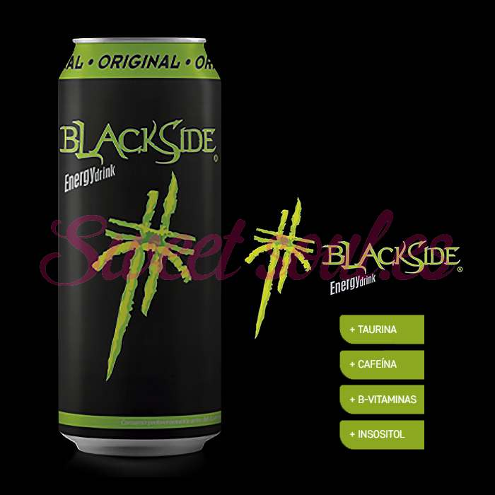 BLACKSIDE ORIGINAL ENERGY DRINK, 24UNDSx500ml