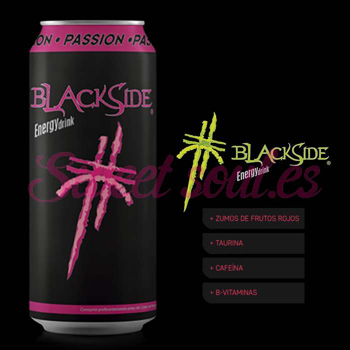 BLACKSIDE PASSION ENERGY DRINK, 24UNDSx500ml