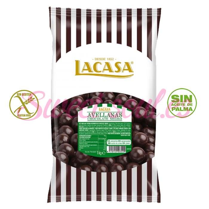 BOLSA DE AVELLANAS CON CHOCOLATE NEGRO LACASA, 1kg