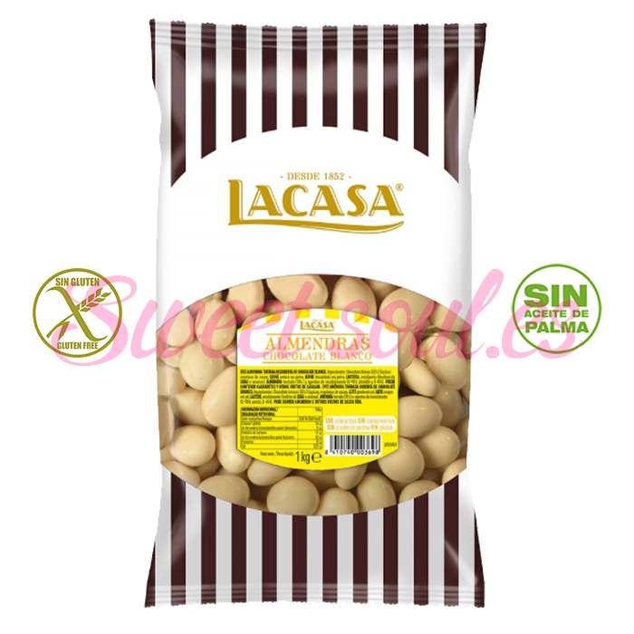 BOLSA DE ALMENDRAS CON CHOCOLATE BLANCO LACASA,1kg