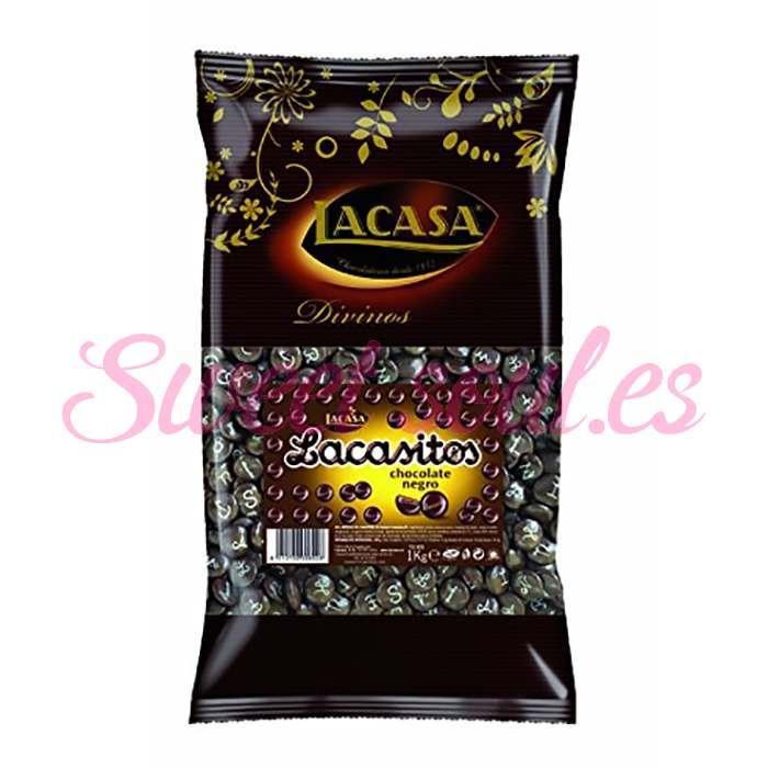 BOLSA DE LACASITOS CHOCOLATE NEGRO LACASA, 1kg