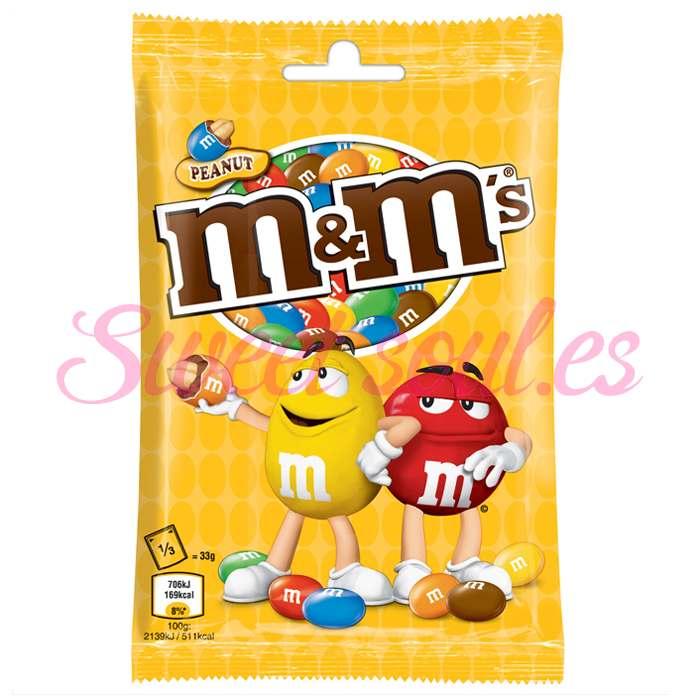 BOLSA DE CHOCOLATES MARS M&M's PEANUT, 100g