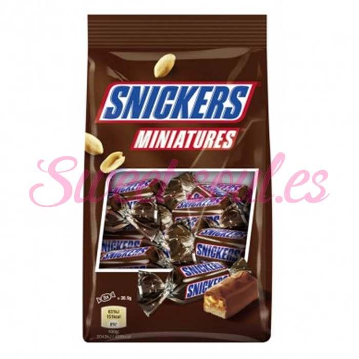 BOLSA DE CHOCOLATES SNICKERS MINIATURES, 130g