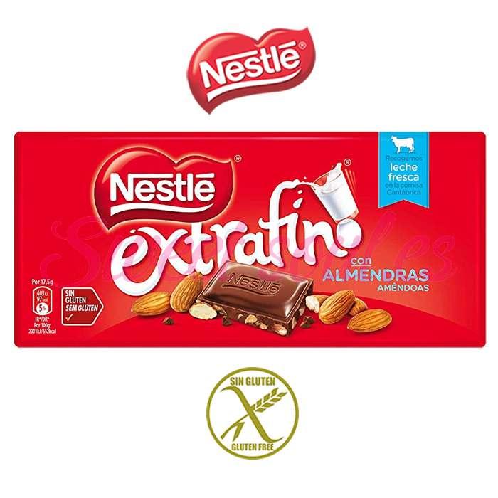 CHOCOLATE NESTLE EXTRAFINO CON ALMENDRAS, 123g