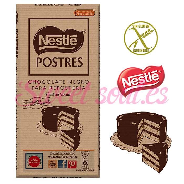 NESTLE POSTRES CHOCOLATE NEGRO REPOSTERIA, 250g