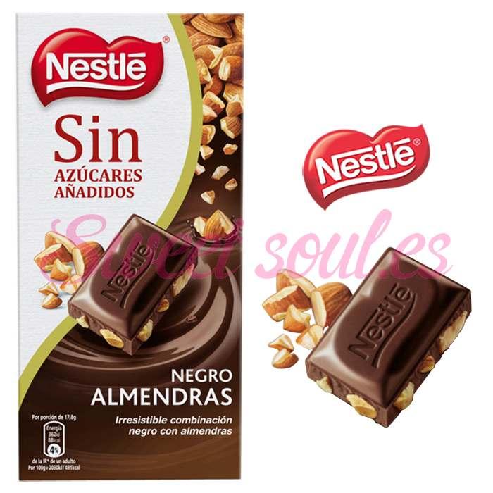 CHOCOLATE NESTLE NEGRO CON ALMENDRAS, 125g