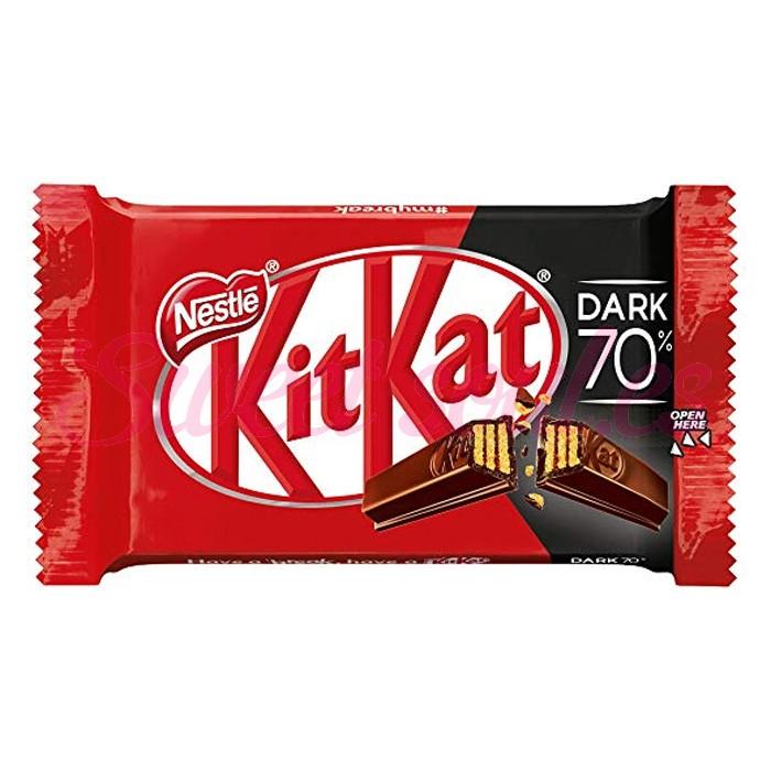 CAJA NESTLE CHOCOLATE KITKAT 70%DARK, 24UNDSx41,5g