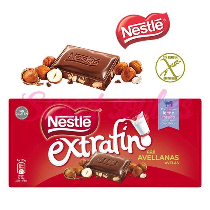 CHOCOLATE NESTLE EXTRAFINO CON AVELLANAS, 123g