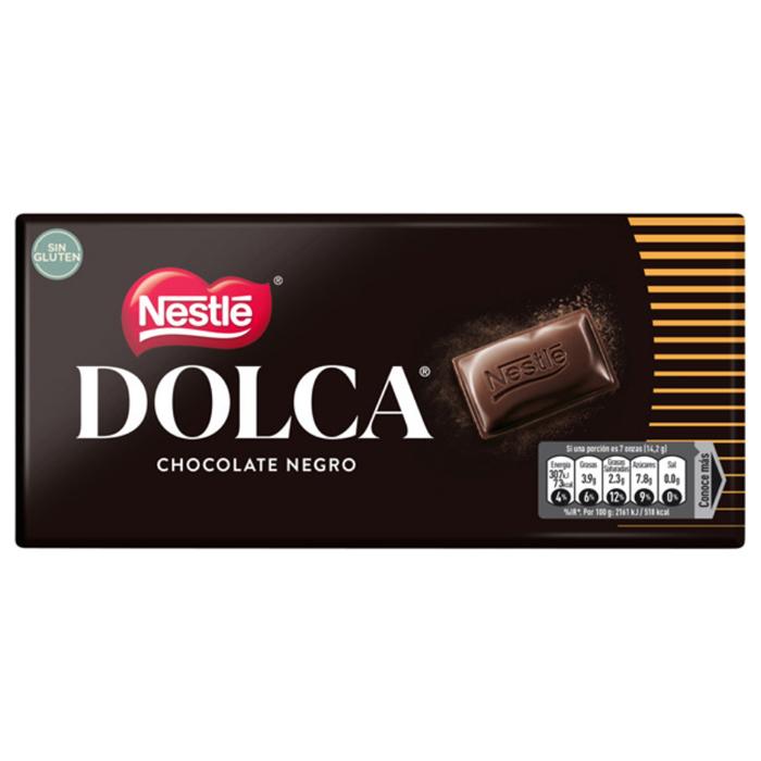 TABLETA DOLCA CHOCOLATE NEGRO NESTLE, 100g