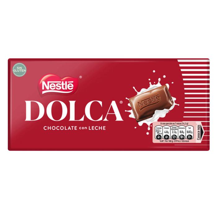 TABLETA DOLCA CHOCOLATE CON LECHE NESTLE, 100g