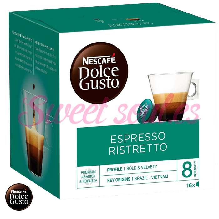 CAFE DOLCE GUSTO ESPRESSO RISTRETTO, 16 CAPSULAS