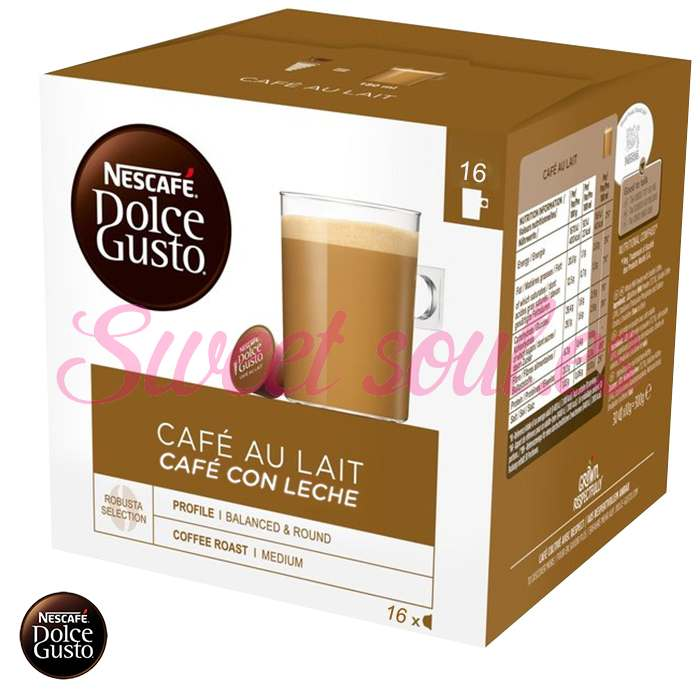 CAFE DOLCE GUSTO CAFE AU LAIT, 16 CAPSULAS
