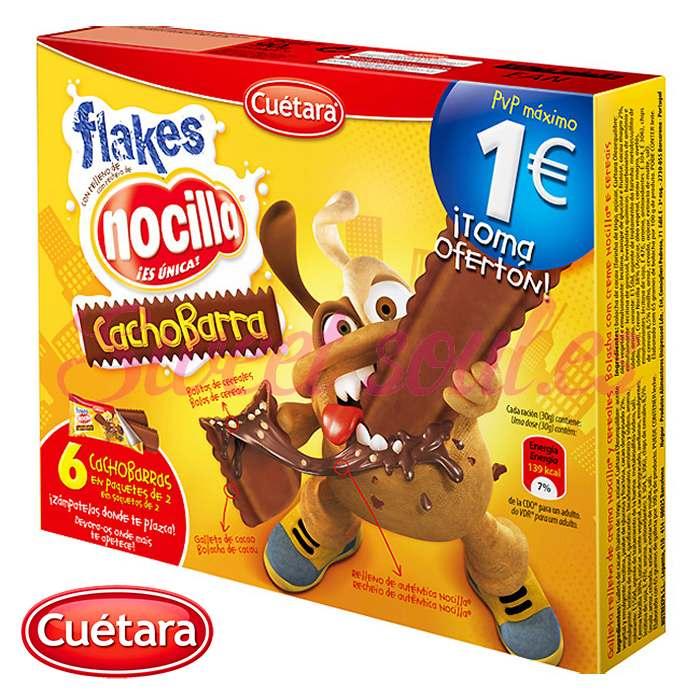 6-PACK FLAKES NOCILLA CACHOBARRA CUETARA, 90g