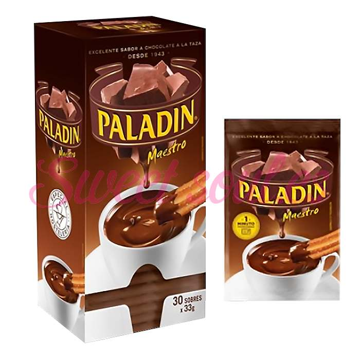SOBRES CHOCOLATE PALADIN A LA TAZA, 30UNDSx33g