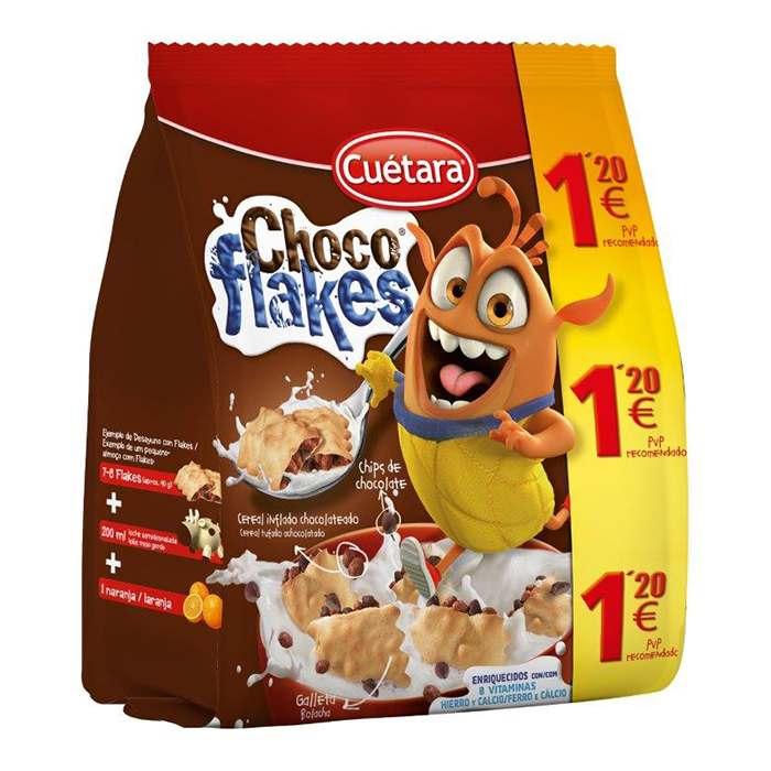 BOLSA GALLETAS CHOCOFLAKES CUETARA, 130g