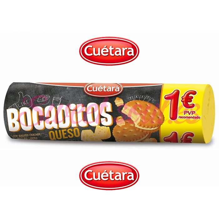 RODILLO BOCADITOS CUETARA SABOR QUESO, 125g