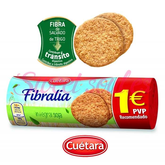GALLETAS FIBRALIA INTEGRAL SOJA CUETARA, 183g