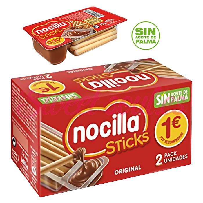 PAQUETE NOCILLA STICKS CACAO, 2UNDSx35g