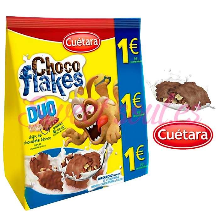 GALLETAS CHOCO FLAKES DUO CUETARA, 150g