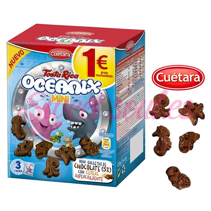 GALLETASTOSTA RICA OCEANIX MINI CUETARA,3UNDSx40g