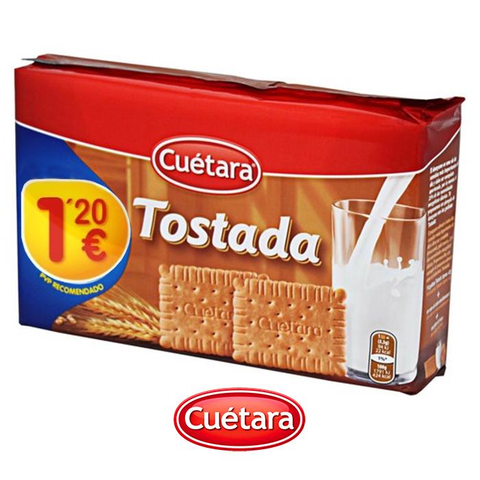 GALLETAS MARIA TOSTADA CUETARA, 400g
