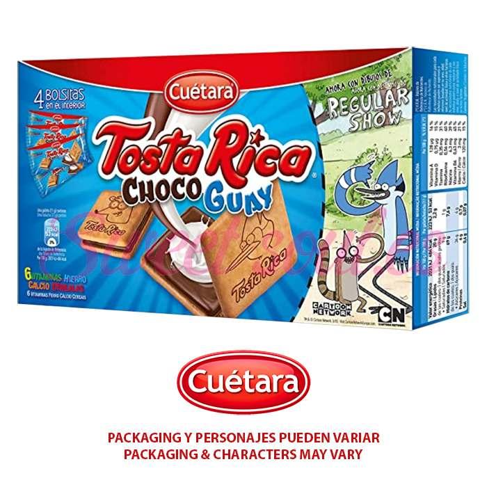 4-PACK GALLETAS CEREALES TOSTARICA CHOCOGUAY, 168g