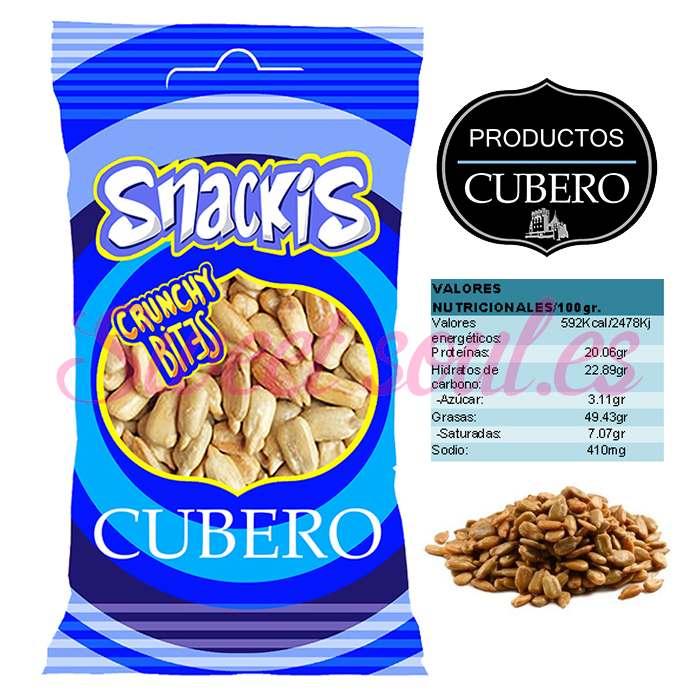 SNACKIS PIPAS PELADAS CUBERO, 25UNDSx30g