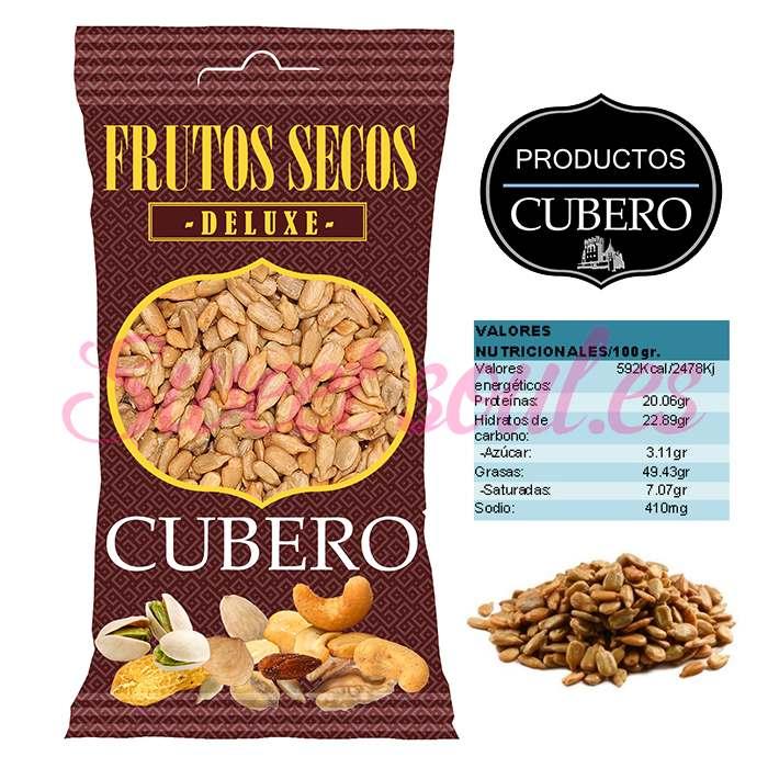 PIPAS GIRASOL FRITAS DELUXE CUBERO, 12UNDSx100g