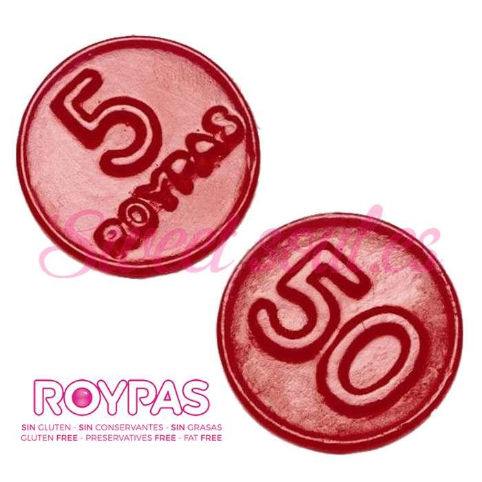 CAJA GOMAS DE REGALIZ  ROYPAS, 200UNDS