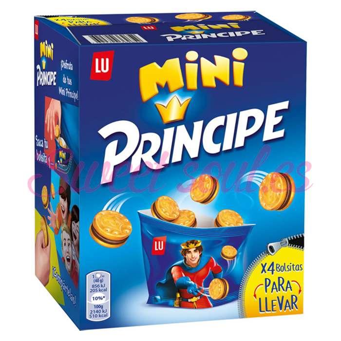 CAJA GALLETAS MINI PRINCIPE LU, 160g (4UNDSx40g)