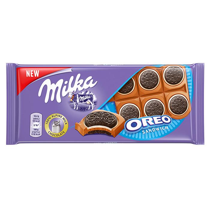 TABLETA CHOCOLATE MILKA OREO SANDWICH, 92g