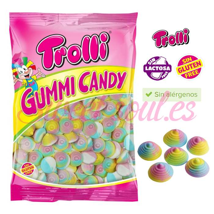 BOLSA DE GOMAS JELLY GUMMI TROLLI, 1kg