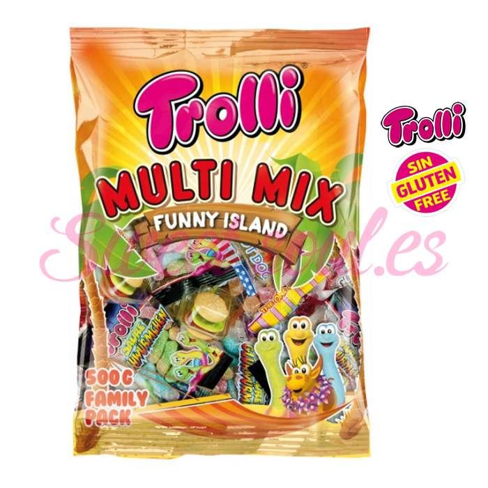 BOLSA DE MULTIMIX TROLLI FAMILY PACK,  500g
