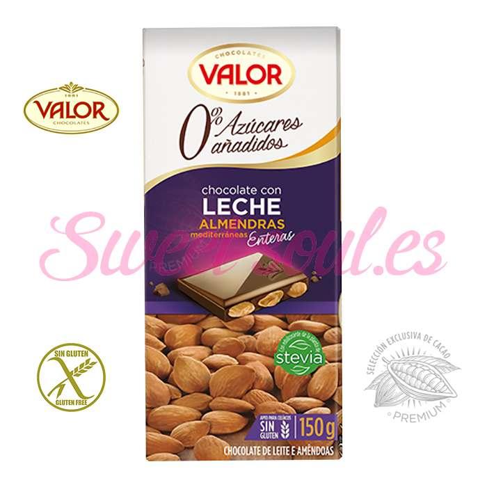 CHOCOLATE CON LECHE Y ALMENDRAS VALOR, 150g
