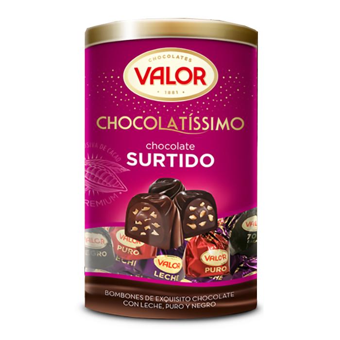 TARRO DE BOMBONES VALOR CHOCOLATISSIMO, 250g