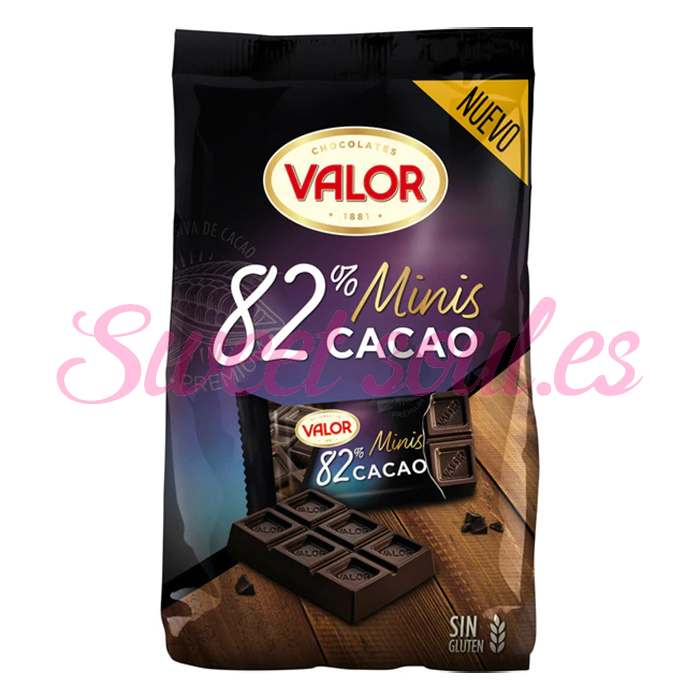 MINI TABLETAS CHOCOLATE NEGRO 82% VALOR 171g