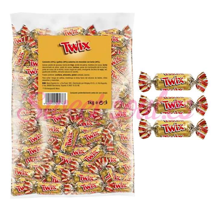 BOLSA DE CHOCOLATINAS TWIX MINIATURES, 1kg
