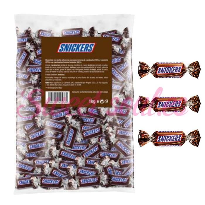 BOLSA DE CHOCOLATINAS SNICKERS MINIATURES, 1kg