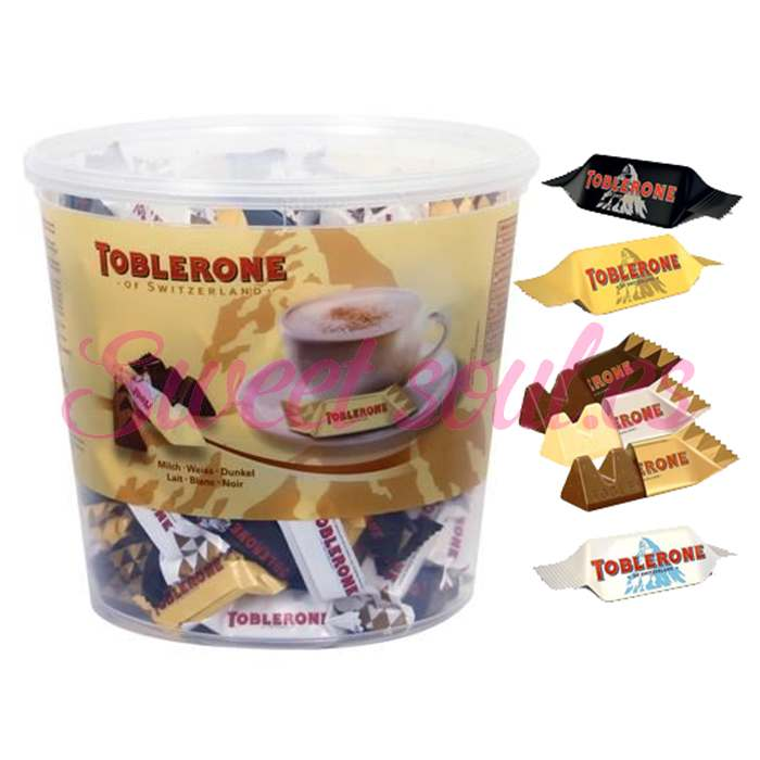 CUBO CHOCOLATES TOBLERONE MINI MIX, 904g (113UNDS)
